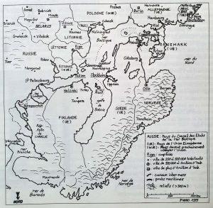 Carte inversée baltique