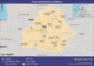Carte administrative du Bélarus