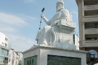 La statue du Tsar Samuel édifiée au centre de Skopje