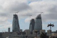 Chantier de tours à Bakou : les Flammes