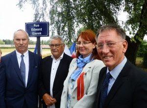 Inauguration de la rue Edward Gierek, à Auby, le 13 juillet 2018