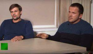 Capture d'écran de l'interview accordée par AlexandrePetrov et RouslanBochirov à RT