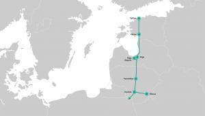 Le tracé de Rail Baltica