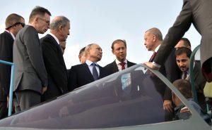 Les présidents russe et turc lors du salon MAKS-2019, Moscou août 2019