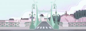 Le pont de la Liberté à Budapest (illustration Nina Dubocs)
