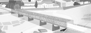 Le pont Kierbedzia. Illustration Nina Dubocs