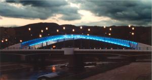 Le pont après sa reconstruction (photo Eric Grenier, 2001)