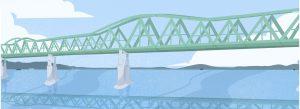 Projet de pont de Sakhaline (illustration Nina Dubocs)