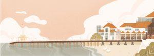 La jetée de Sopot (illustration Nina Dubocs)