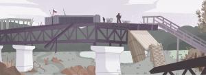Le pont de Stanytsa Luhanska (illustration Nina Dubocs)