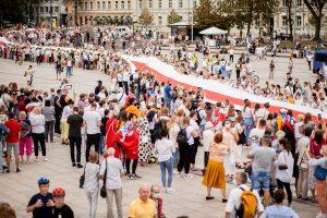 La Voie de la liberté sur la Place de la Cathédrale à Vilnius (© Justinas Stacevičius / LRT, avec l'aimable autorisation de LRT)
