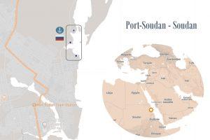 Carte de la base de Port Soudan