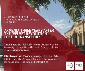 Armenia 3 years after the Velvet Revolution: lost in transition?